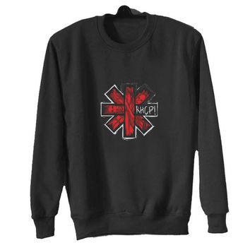 red hot chili peppers sweater Black Sweatshirt Crewneck Men or Women for Unisex Size with variant colour