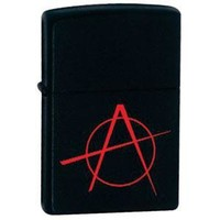 Zippo 20842 Black Matte, Anarchy, Lighter