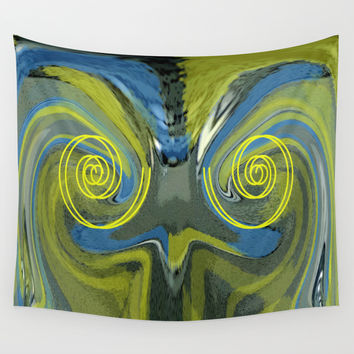 Abstract Owl Portrait Wall Tapestry by Ben And Raisa Gertsberg