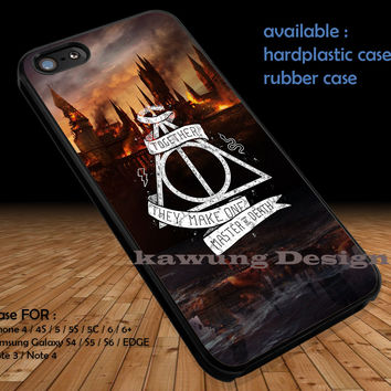 Deathly Hallows Hogwarts DOP1108 iPhone 6s 6 6s+ 5c 5s Cases Samsung Galaxy s5 s6 Edge+ NOTE 5 4 3 #movie #HarryPotter