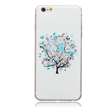 Unique Floral Tree Case Cover for iPhone 5s 5se 6s Plus Free Gift Box 44