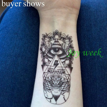 24 designs Waterproof Temporary Tattoo Sticker eye of God totem myth arrow tatto stickers flash tatoo fake tattoos for women men