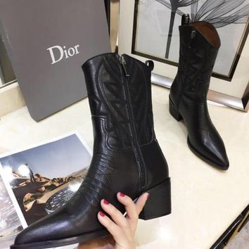 Dior  Fashion Women Slipper Boots Sandals High Heels Shoes