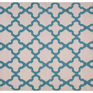 Horatio Flat-Weave Rug, Blue, Area Rugs
