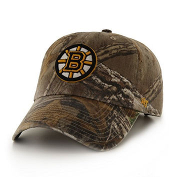 NHL Boston Bruins '47 Big Buck Clean Up Camo Adjustable Hat, One Size Fits Most, Realtree Camouflage
