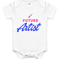 Cute Future Artist Baby Clothes Infant Bodysuit Jumper Baby Shower Gift idea Funny New Mom Christmas Pregnant Gift for Artsy mom or dad