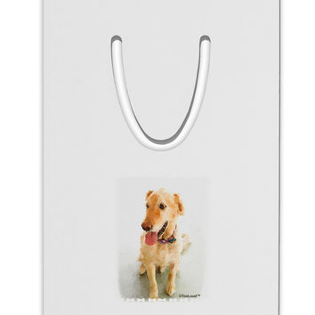 Golden Retriever Watercolor Aluminum Paper Clip Bookmark