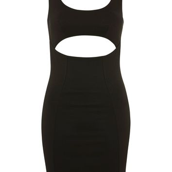 Slash Bust Vest Bodycon Dress - Clothing