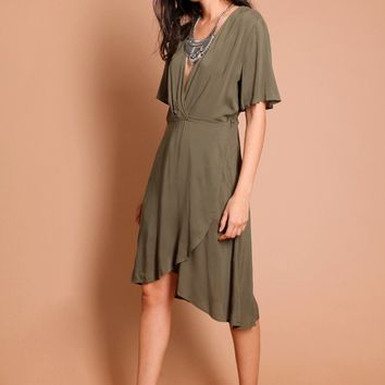 New Calico Wrap Dress | Threadsence