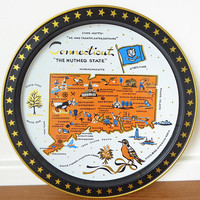 Connecticut state souvenir tray in excellent condition
