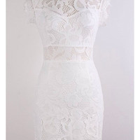 Renassaince Lace Dress - White