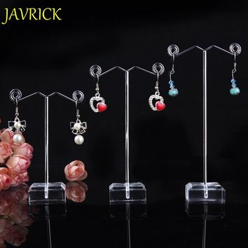 JAVRICK 3pcs/set Jewellery Display Holder Earring Holder Stand For Jewelry Silver Earring Jewelry Stands Showcase Stand Holder