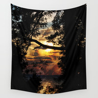 Sunset  Wall Tapestry by VanessaGF