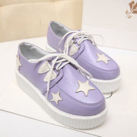 Japanese harajuku stars platform shoes