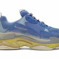 Balenciaga x SSENSE Exclusive Blue Triple S Sneakers NEW Sz EU47 US14