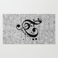 Love Music Area & Throw Rug by RichCaspian | Society6