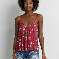 AEO Racerback Babydoll Cami , Red