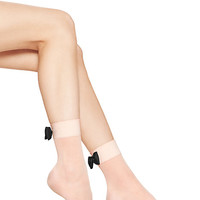 Kate Spade Bow Cuff Sheer Anklet Socks Pastry Pink ONE