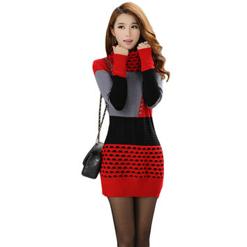 Turtleneck Sweater Dress For Winter