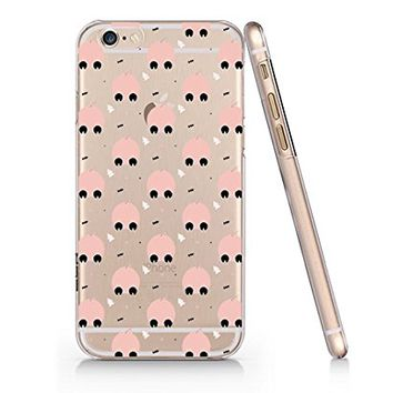 Cute Pig Quote Text Slim Iphone 6PLUS Case, Text Clear Iphone 6PLUS Hard Cover Case For Apple Iphone 6PLUS -Emerishop (iphone 6 plus)