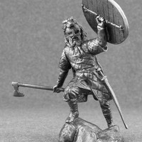 Historical Miniature Viking Ulfhednar warrior Military metal toy soldier  1/32 scale collectible alloy statue home décor pewter 54mm