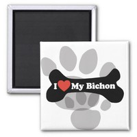 I Love My Bichon - Dog Bone