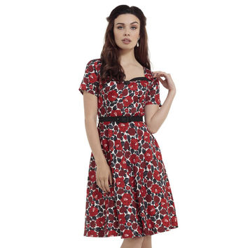Poppy Floral Holly Flare Dress