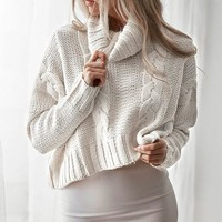 Oversized Sweaters: Turtleneck Cropped Sweaters
