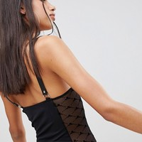 Jaded London Body With Buckle Strap And Mesh Side Detail at asos.com