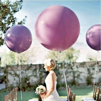 "36"" Inch Giant Latex Balloons-Set of 5"