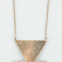FULL TILT 3 Laddered Triangle Necklace 205647191 | Necklaces