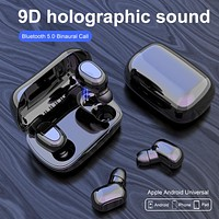L21 Bluetooth Earphone Wireless Earbuds 5.0 TWS Headsets Dual Earbuds Bass Sound for iPhone Samsung Huawei Xiaomi Mobile Phones FREE SHIPPING