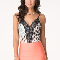 bebe Womens Lace Detail Bodysuit Fever #2