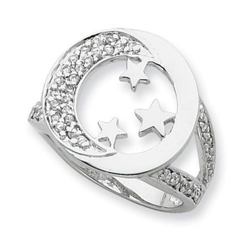 Sterling Silver I Promise You the Moon and Stars Sentimental Expressions Ring