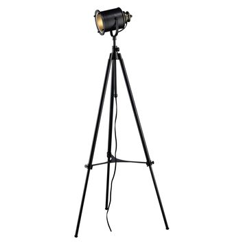 Ethan Adjustable Tripod Floor Lamp in Restoration Black Restoration Black