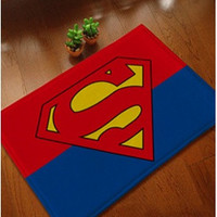 Floor Mats Anti-skid Door Mat  40*60cm Superman (Size: 40cm by 60cm) = 1946081284