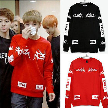 Bangtan Boys Hoodie BTS Jumper Sweater Jin Jimin V Fleece Sweatershirt