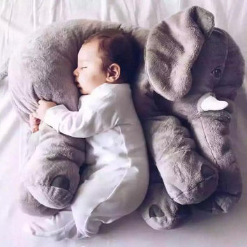 Biggest 60cm Infant Soft Appease Elephant Playmate Calm Doll Baby Toys Elephant Pillow Plush Toys Stuffed Doll Girl Friend Gift