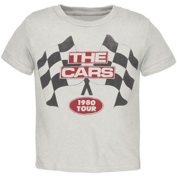 PEAPGQ9 The Cars - Racing Flags 1980 Tour Premium Youth T-Shirt