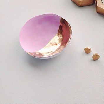 Pink and Gold Jewelry Dish
