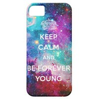 Galaxy Keep Calm and Be Forever Young from Zazzle.com
