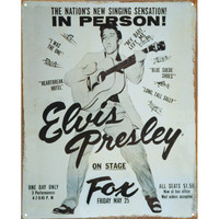 Elvis Presley - Tin Concert Sign