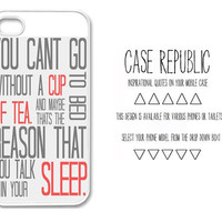Apple iPhone 4 4G 4S 5 Case Cover White One Direction 1D Little Things Cute Quote Design Vintage Retro