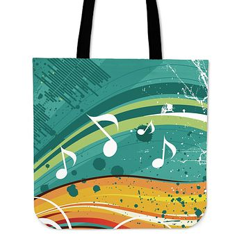 Funky Music Linen Tote Bag
