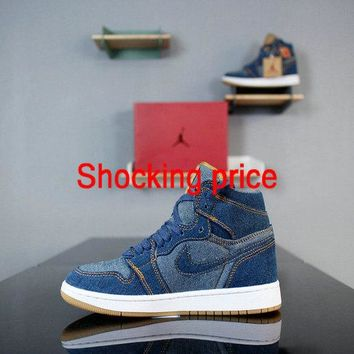 cheap authentic shoe websites Levis x Air Jordan 1 Retro Denim A02571-401 newest sneaker