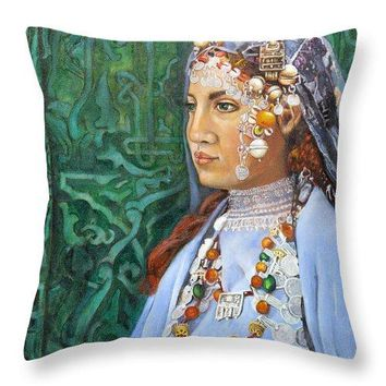 Berber Woman - Throw Pillow