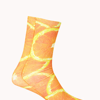 Orange Slice Crew Socks