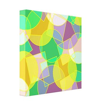 Stained glass geometric pattern canvas print