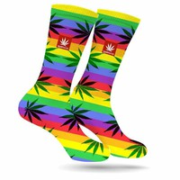 RAINBOW BRIGHT WEED SOCKS