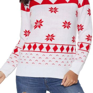 Cute White 3D Christmas Sweater